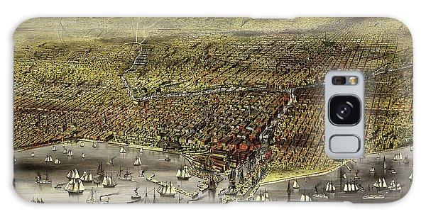 Vintage Chicago Galaxy Case - The City Of Chicago, 1868 by Currier and Ives