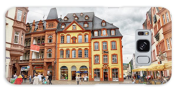 Trier, Germany,  People By Market Day Galaxy Case
