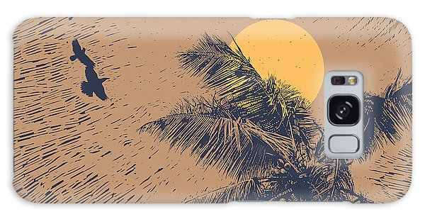 Event Galaxy Case - Tropical Landscape With Palms Trees by Jumpingsack