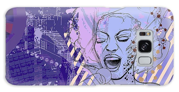 Event Galaxy Case - Vector Illustration Of An Afro American by Isaxar
