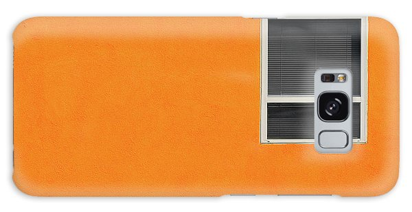 Very Orange Wall Galaxy Case