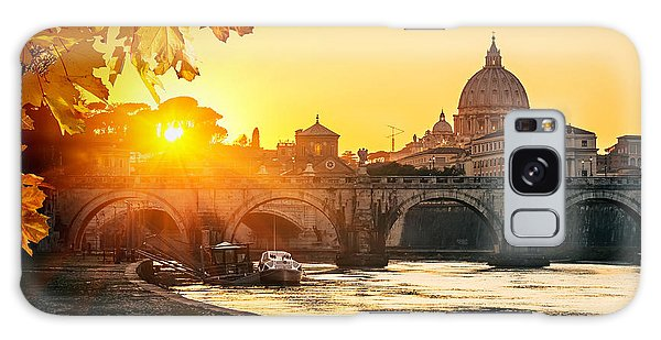 Historical Galaxy Case - View At Tiber And St. Peters Cathedral by S.borisov