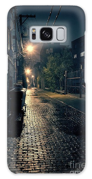 Brick House Galaxy Case - Vintage Chicago Alley by Bruno Passigatti