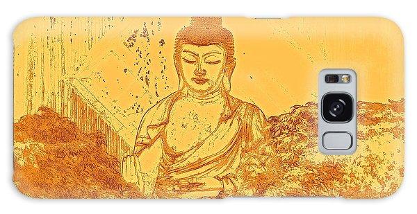 Buddhism Galaxy Case - Warm Buddha by Magda Van Der Kleij