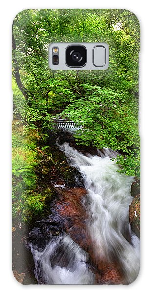 Fairy Pools Galaxy Case - Waterfall In The Forest by Debra and Dave Vanderlaan