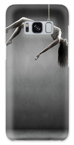 Wrap Galaxy Case - Woman Hanging On A Rope by Johan Swanepoel