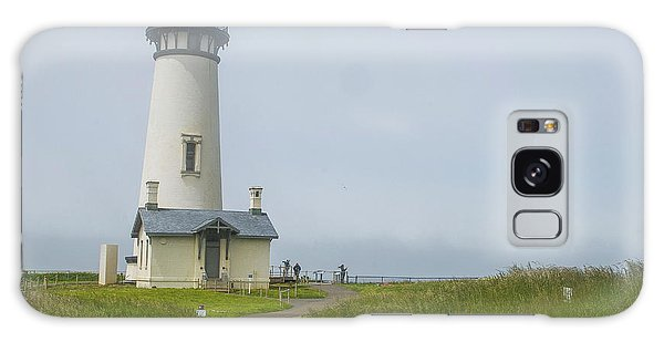 Yaquina Head Lighthouse Galaxy Case