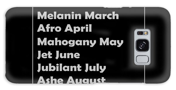 Malcom X Galaxy Case - Black History Month African American Black Pride Shirt Dark by Nikita Goel