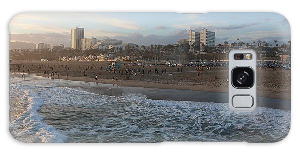 Pacific Sunset , Santa Monica, California Galaxy Case