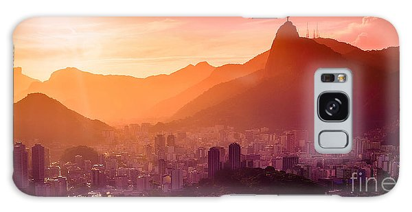 No People Galaxy Case - Christ The Redeemer by Celso Diniz