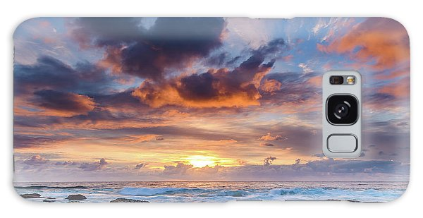 An Atmospheric Sunrise Seascape Galaxy Case