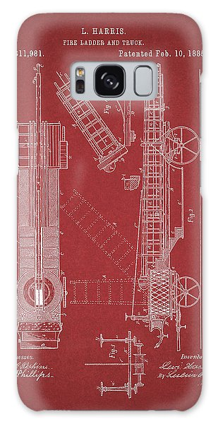 Old Truck Galaxy Case - 1885 Fire Truck Patent by Dan Sproul