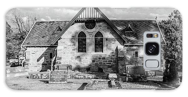 19th Century Sandstone Church In Black And White Galaxy Case