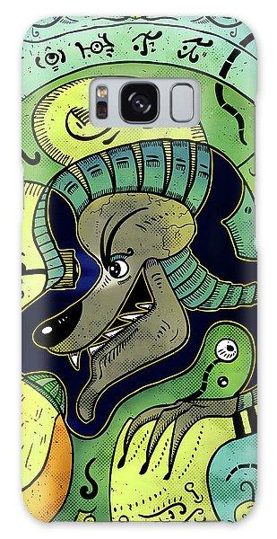 Galaxy Case featuring the digital art Anubis by Sotuland Art