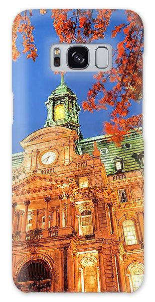 Quebec City Galaxy Case - Autumn-colored Trees, Hotel De Ville by Stuart Westmorland