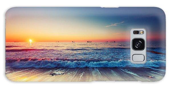 Cloudscape Galaxy Case - Beautiful Sunrise Over The Horizon by Valentin Valkov