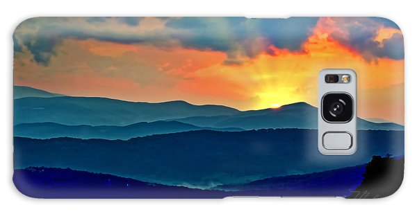 Blue Ridge Mountains Sunset Galaxy Case