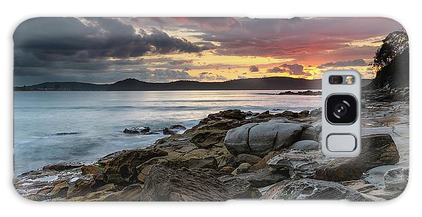 Colours Of A Stormy Sunrise Seascape Galaxy Case