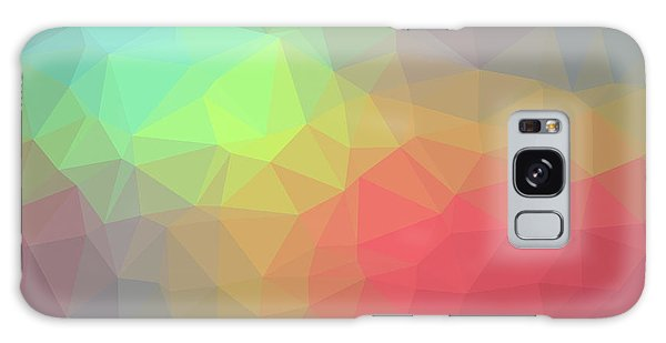 Gradient Background With Mosaic Shape Of Triangular And Square C Galaxy Case