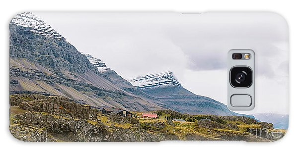 High Icelandic Or Scottish Mountain Landscape With High Peaks And Dramatic Colors Galaxy Case