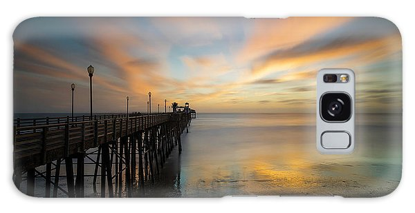 Pacific Ocean Galaxy Case - Oceanside Pier Sunset by Larry Marshall