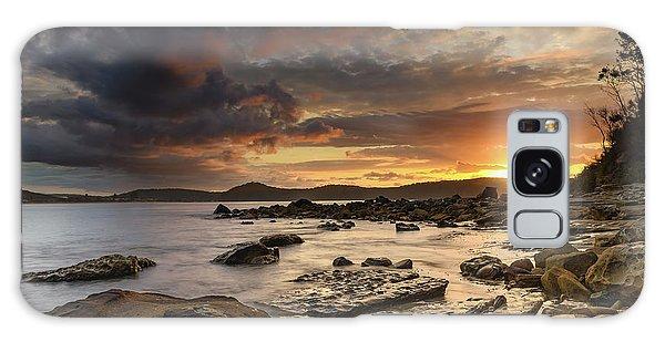 Stormy Sunrise Seascape Galaxy Case