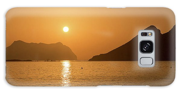Sunrise On A Beach In Aguilas, Murcia Galaxy Case