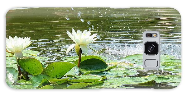 2 White Water Lilies Galaxy Case