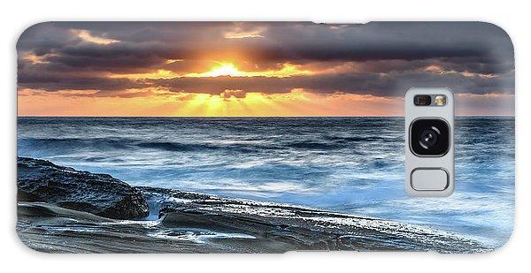 A Moody Sunrise Seascape Galaxy Case