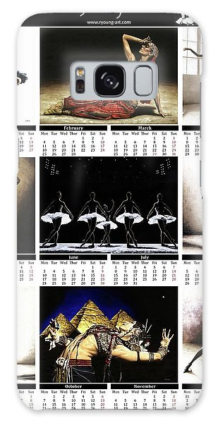 Calendar Galaxy Case - 2019 High Resolution R Young Art Dance Calendar - Available Artw by Richard Young