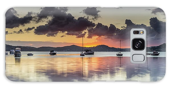 Overcast Morning On The Bay With Boats Galaxy Case