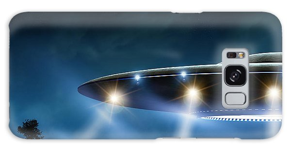 Nature Galaxy Case - 3d Rendering Of Flying Saucer Ufo On by Oorka