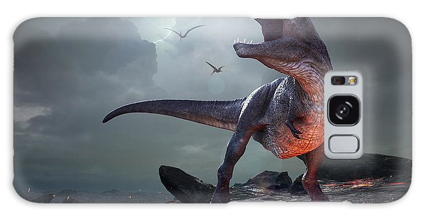 Powerful Galaxy Case - 3d Rendering Of Tyrannosaurus Rex Near by Herschel Hoffmeyer
