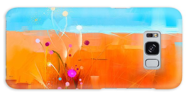 Semis Galaxy Case - Abstract Colorful Oil Painting by Pluie r