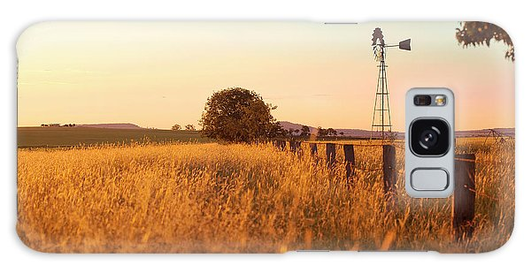 Galaxy Case featuring the photograph Australian Windmill In The Countryside by Rob D