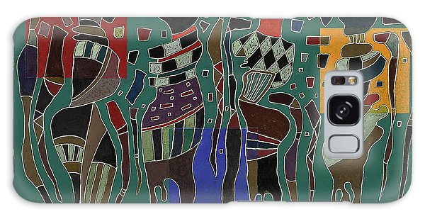 Voodoo Galaxy S8 Case - 4 Figures On 3 Squares, 1943 by Wassily Kandinsky
