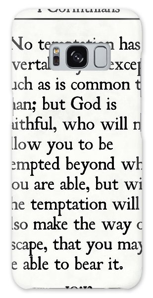 1 Corinthians 10 13- Inspirational Quotes Wall Art Collection Galaxy Case