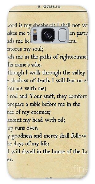 Psalm 23-bible Verse Wall Art Collection Galaxy Case