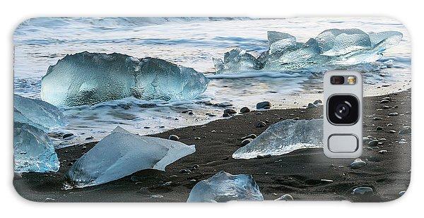 The Diamond Beach, Jokulsarlon, Iceland Galaxy Case