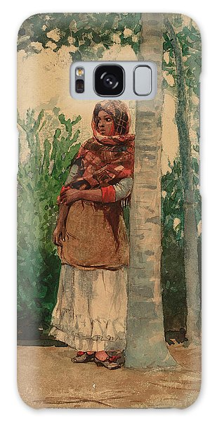 Old Florida Galaxy Case - Under A Palm Tree by Winslow Homer