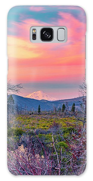 60 Miles To Mount Shasta Galaxy Case