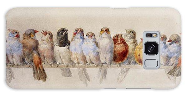 A Perch Of Birds  Galaxy Case