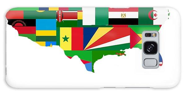 Malcom X Galaxy Case - Black History Month African American Black Pride Shirt Dark Light by Nikita Goel