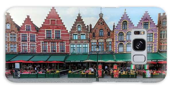 Town Square Galaxy Case - Brugge - Belgium by Joana Kruse