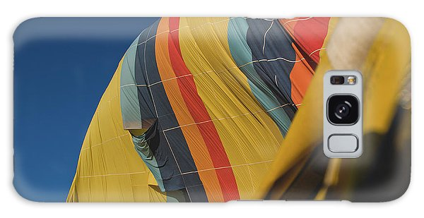 Colorful Balloons Flying Over Mountains And With Blue Sky Galaxy Case