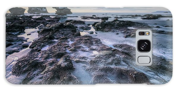 Sea Stacks Galaxy Case - Motukiekie Beach - New Zealand by Joana Kruse