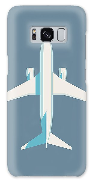 Plane Galaxy Case - 737 Passenger Jet Airliner Aircraft - Slate by Ivan Krpan