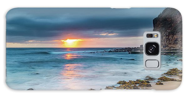 Sunrise Seascape And Cloudy Sky Galaxy Case