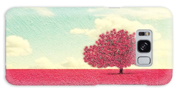 Farmland Galaxy Case - A Beautiful Tree In A Pretty Field by Annette Shaff