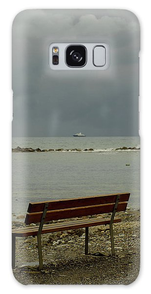 A Bench On Which To Expect, By The Sea Galaxy Case